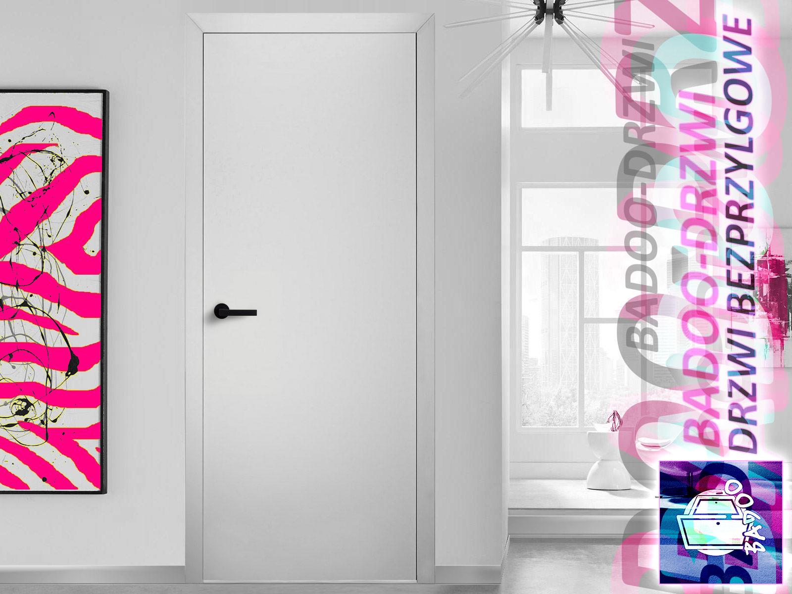 Nowoczesne białe drzwi z ościeżnicą bezprzylgową