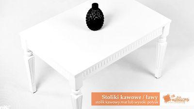 stolik kawowy biały wysoki połysk